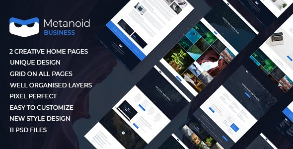 Metanoid | Business PSD Template - Business Corporate