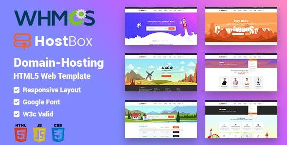 HOSTbox - Domain Hosting HTML5 & whmcs Responsive Template - Hosting Technology