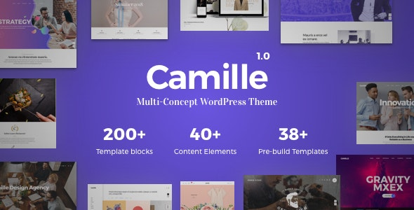 Camille - Multi-Concept WordPress Theme - Creative WordPress