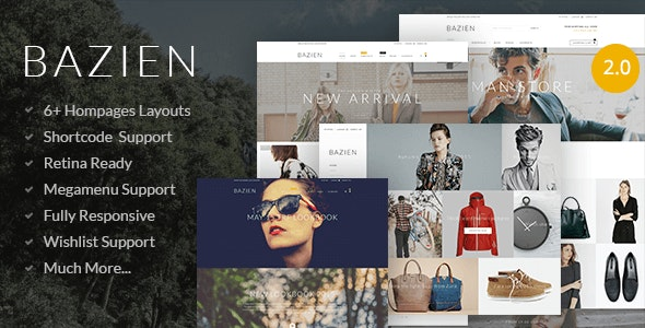 Bazien - Shopify Retina Theme - Shopify eCommerce