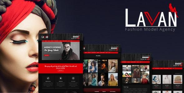 Lavan - Fashion Model Agency WordPress CMS Theme - Fashion Retail