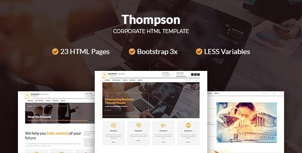 Thompson Corporate HTML Template - Business Corporate