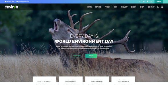 ENVIRON – Non-profit and Environment PSD Template