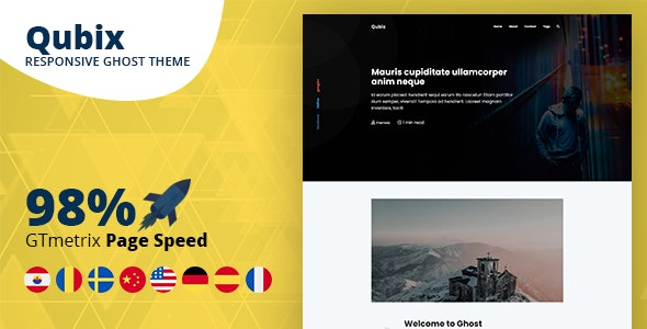 Qubix - Minimal and Clean Ghost Blog Theme - Ghost Themes Blogging