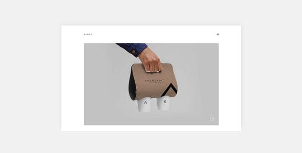 Sandy - Minimal Portfolio WordPress Theme - Portfolio Creative