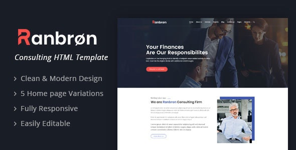 Ranbron - A Perfect Business Consulting HTML Template - Business Corporate