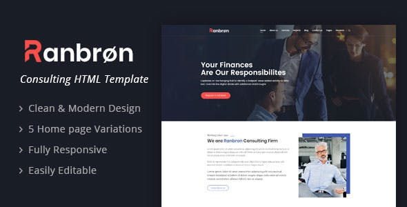 Ranbron - A Perfect Business Consulting HTML Template