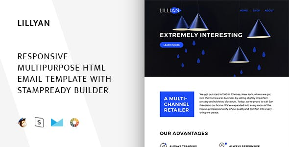 Lillyan - Responsive Email + StampReady, MailChimp & CampaignMonitor compatible files