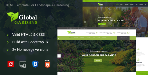 Global Gardens Lawn Gardens Html Template By Noor Tech Themeforest