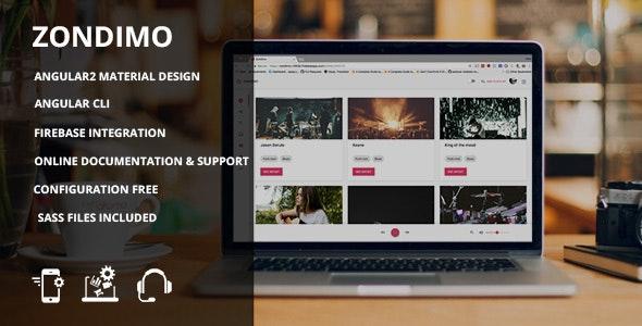 Zondimo - Angular Music app by monkey_themes | ThemeForest