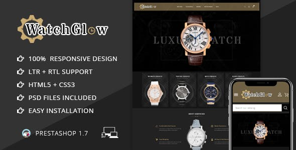 Watch Glow - Prestashop 1.7 Responsive Theme
