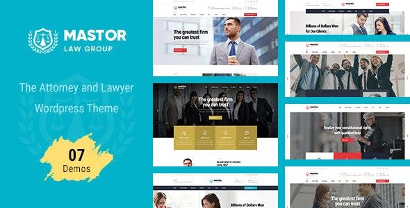 Mastor - Law Firm WordPress Theme - Business Corporate