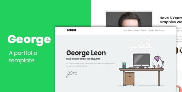 George-Portfolio HTML Template - Portfolio Creative