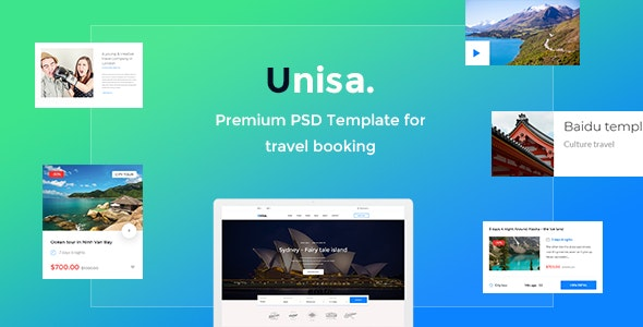 Unisa - Travel PSD Template - Travel Retail