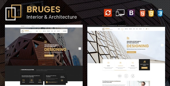 Bruges - Architecture and Interior Design HTML Template - Business Corporate