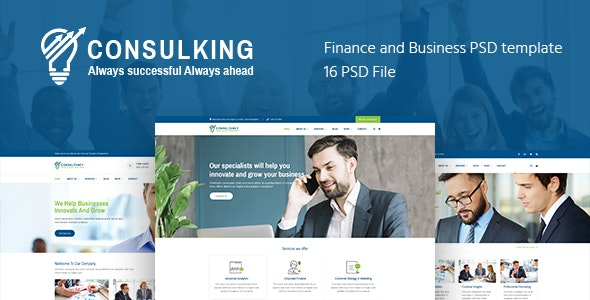 Consulking - Consulting & Business PSD template - Business Corporate