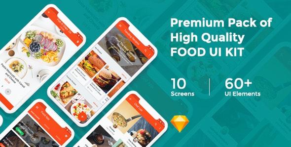 Foodd - Food UI KIT for Sketch - Sketch UI Templates