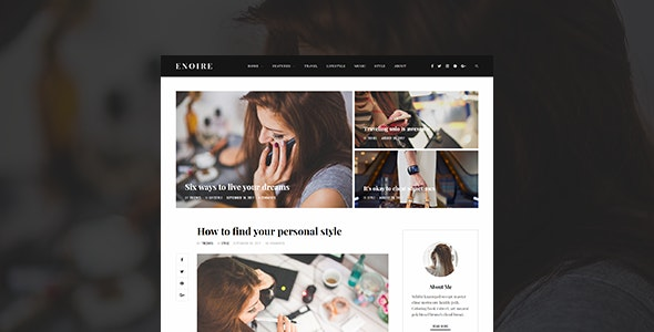 Enoire - WordPress Blog Theme - Personal Blog / Magazine