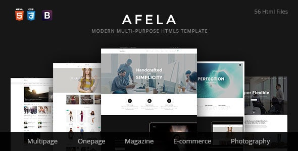 Afela | Flexible Multi-Purpose HTML5 Template - Site Templates