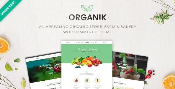 Organic Food Store WordPress Theme - Organik - WooCommerce eCommerce