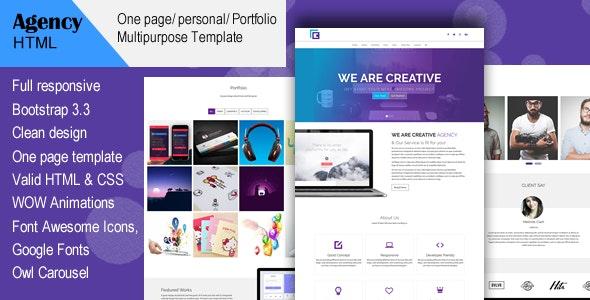Agency- Creative Multi-Purpose HTML Template - Creative Site Templates