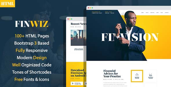 Finwiz - Fincacial and Auditing services HTML Template - Business Corporate