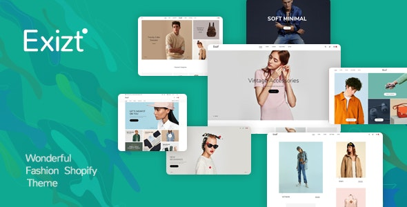 Exist - Drag & Drop  Responsive Shopify Theme - Fashion Shopify