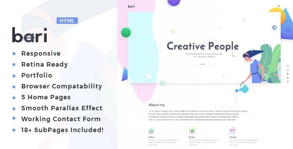 Bari - Portfolio for Freelancers - Portfolio Creative