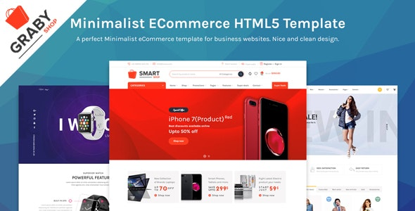 Graby Shop - Ecommerce HTML Template - Retail Site Templates