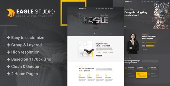 Eagle Studio - Creative PSD Template - Creative Photoshop