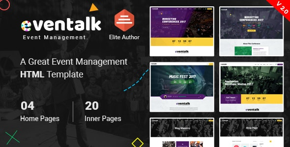 EvntTalk - Event & Conference HTML Template - Events Entertainment