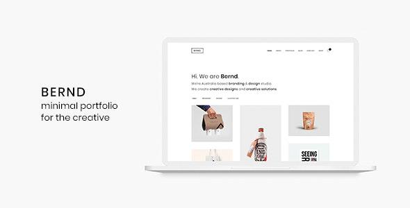 Bernd - Minimal WordPress Portfolio Theme - Portfolio Creative