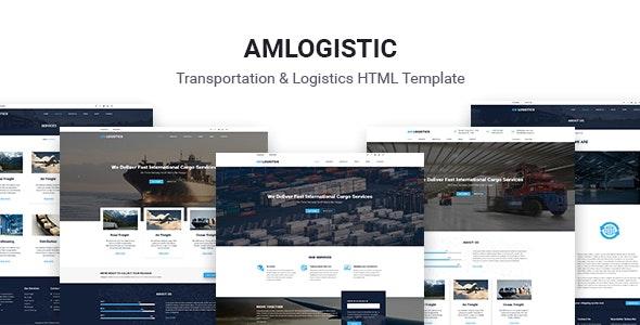 Amlogistic | Transportation & Logistics HTML Template - Business Corporate
