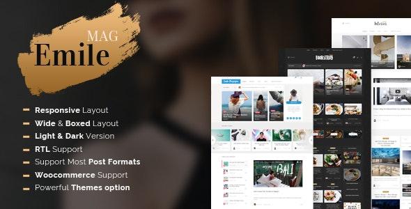 Emile - Responsive WordPress Blog Theme With Shop - Blog / Magazine WordPress