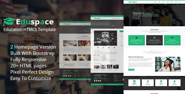 Eduspace - Education and Courses HTML5 Template - Business Corporate