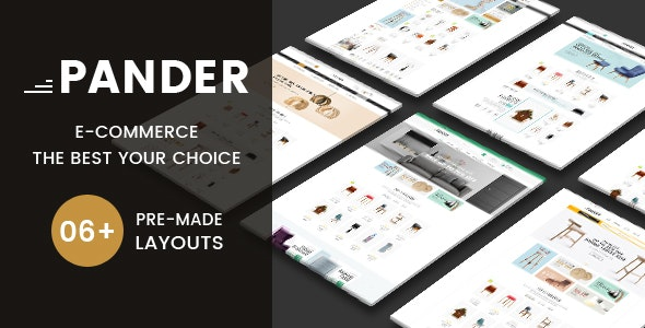 Pander - Furniture eCommerce HTML Template - Shopping Retail