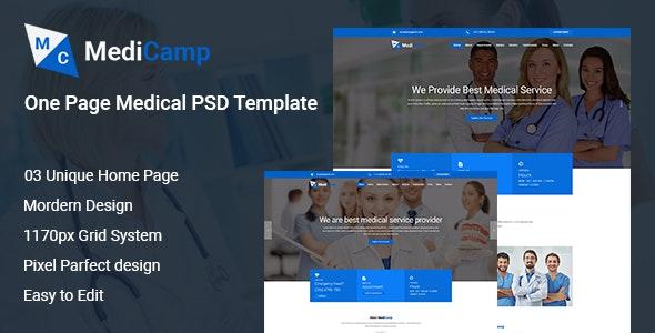 MediCamp Medical PSD Template - Photoshop UI Templates