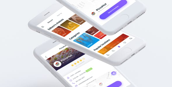 Lunchmate - Dating App UI Kit Sketch Template
