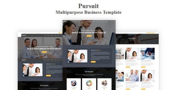 Pursuit - Multipurpose Business Template - Business Corporate