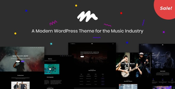 Marly - A Modern WordPress Theme for the Music Industry - Music and Bands Entertainment