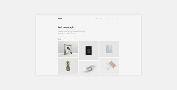 Nord - Minimal Portfolio WordPress Theme - Portfolio Creative
