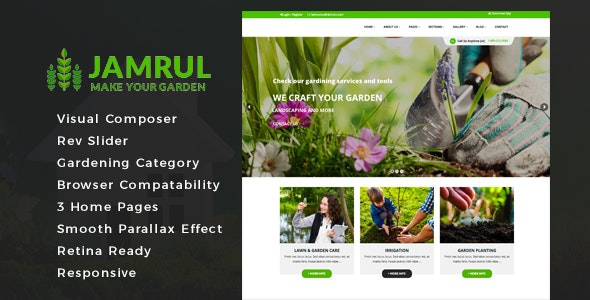 Jamrul - Landscaping WordPress Theme - Business Corporate