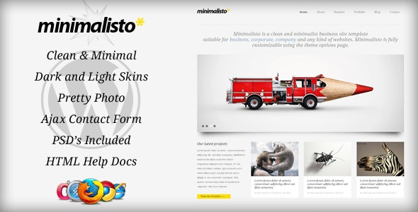 Minimalisto - Premium WordPress Theme - Business Corporate