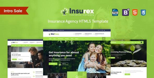Insurex - Insurance Agency HTML5 Template - Business Corporate