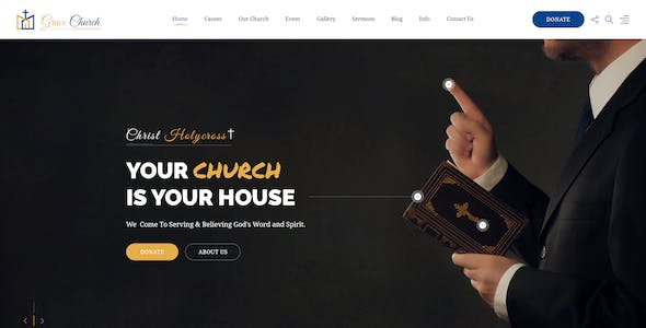 Grace Church - Charity Bootstrap HTML Template
