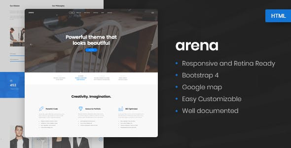 Arena - Business & Agency HTML5 Template