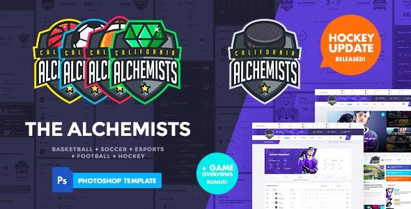 The Alchemists - Sports News PSD Template V4.0 + eSports & Gaming - Creative Photoshop