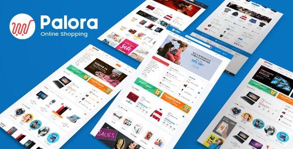 Palora Electronics eCommerce Bootstrap4 Template