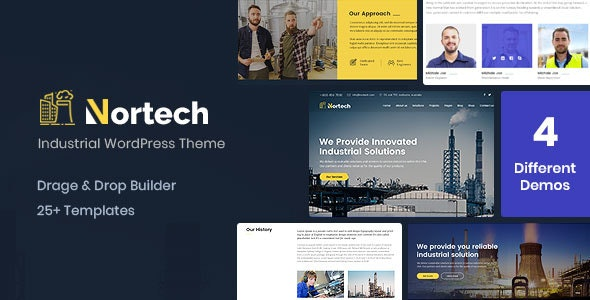 Nortech - A Industry and Engineering WordPress Theme - Business Corporate