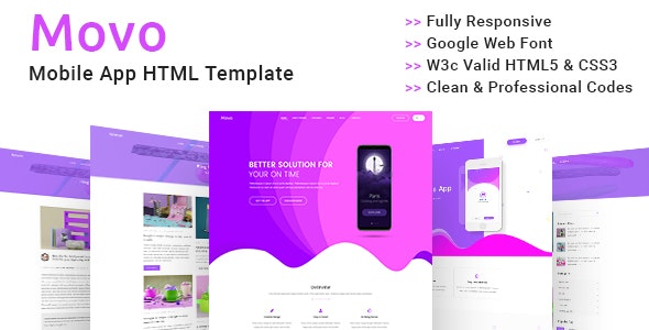 App Modern Landing HTML Template - Technology Site Templates